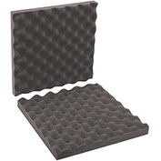 "Charcoal Convoluted Foam Sets 12"" x 12"" x 2"" 24 Pack"
