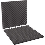 "Charcoal Convoluted Foam Sets 24"" x 24"" x 2"" 6 Pack"