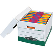 "R-Kive File Storage Box FSB160 - 15""L x 12""W x 10""H - Green - Price Each - Pkg Qty 12"