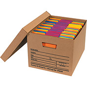 "Economy File Storage Box w/Lid FSB300 Letter/Legal 15""L x 12""W x 10""H Kraft Price Each - Pkg Qty 12"