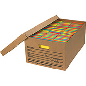 "Economy File Storage Box w/Lid FSB370 - Legal 24""L x 15""W x 10""H - Kraft - Price Each - Pkg Qty 12"