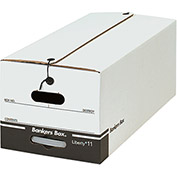 "File Storage Box FSB640 - Letter 24""L x 12""W x 10-1/4""H - White - Price Each - Pkg Qty 12"