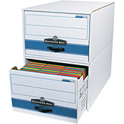 "Stor/Drawer Steel Plus File Storage Drawer FSB720 24"" x 15"" x 10"" White/Blue Price Each - Pkg Qty 6"