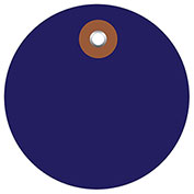 "Plastic Circle Tags 3"" Diamter Blue - 100 Pack"