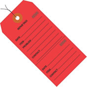 "Consecutively Numbered Repair Tags - Pre-Wired 4-3/4"" x 2-3/8"" Red - 1000 Pack"