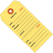 "Consecutively Numbered Repair Tags 6-1/4"" x 3-1/8"" Yellow - 100 Pack"