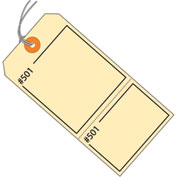 "Consecutively Numbered Claim Tag - Pre-Strung 4-3/4"" x 2-3/8"" Manila - 1000 Pack"