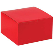 "Red Gift Boxes 10"" x 10"" x 6"" - 50 Pack"