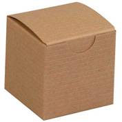 "Kraft Gift Boxes 2"" x 2"" x 2"" - 200 Pack"