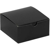 "Black Gloss Gift Boxes 4"" x 4"" x 2"" - 100 Pack"
