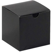 "Black Gloss Gift Boxes 4"" x 4"" x 4"" - 100 Pack"