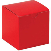"Red Gift Boxes 4"" x 4"" x 4"" - 100 Pack"