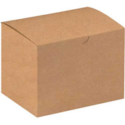 "Kraft Gift Boxes 6"" x 4-1/2"" x 4-1/2"" - 100 Pack"