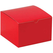 "Red Gift Boxes 6"" x 6"" x 4"" - 100 Pack"