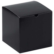 "Black Gloss Gift Boxes 6"" x 6"" x 6"" - 100 Pack"