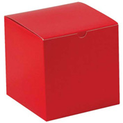 "Red Gift Boxes 6"" x 6"" x 6"" - 100 Pack"
