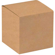 "Kraft Gift Boxes 7"" x 7"" x 7"" - 100 Pack"