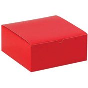"""Red Gift Boxes 8"""" x 8"""" x 3-1/2"""" - 100 Pack"""