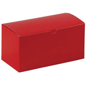 """Red Gift Boxes 9"""" x 4-1/2"""" x 4-1/2"""" - 100 Pack"""