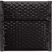 "Black Glamour Bubble Mailer 7"" x 6-3/4"" - 72 Pack"