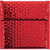 "Red Glamour Bubble Mailer 7"" x 6-3/4"" - 72 Pack"