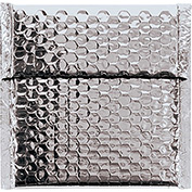 "Silver Glamour Bubble Mailer 7"" x 6-3/4"" - 72 Pack"