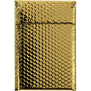 "Gold Glamour Bubble Mailer 7-1/2"" x 11"" - 72 Pack"