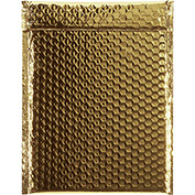 "Gold Glamour Bubble Mailer 9"" x 11-1/2"" - 100 Pack"