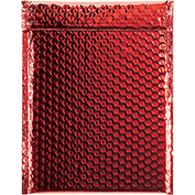 "Red Glamour Bubble Mailer 9"" x 11-1/2"" - 100 Pack"