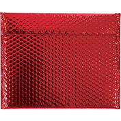 """Red Glamour Bubble Mailer 13-3/4"""" x 11"""" - 48 Pack"""