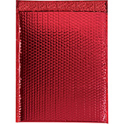 "Red Glamour Bubble Mailer 13"" x 17-1/2"" - 100 Pack"