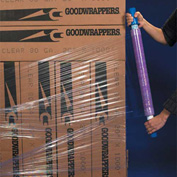 "Goodwrapperss® Purple Stretch Wrap 10"" x 1000' x 80 Gauge with Dispenser"