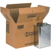 "Four - 1 Gallon F-Style Haz Mat Boxes, 13-3/4"" x 9"" x 10-3/8"", 20/Pack"