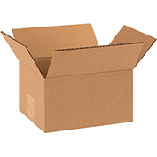 "Double Wall Corrugated Boxes 10"" x 8"" x 6"", 275 lb.Test/DW/ECT-48 Kraft - 15 Pack"