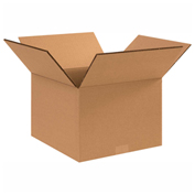 "Heavy Duty Double Wall Cardboard Corrugated Box 12"" x 10"" x 10"" 275 Lb. ECT-48 15 Pack"