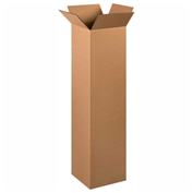 "Heavy Duty Double Wall Cardboard Corrugated Box 12"" x 12"" x 48"" 275 Lb. ECT-48 10 Pack"