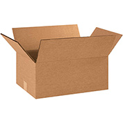 "Double Wall Corrugated Boxes 16"" x 10"" x 6"", 275 lb.Test/DW/ECT-48 Kraft - 15 Pack"
