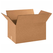 "Heavy Duty Double Wall Cardboard Corrugated Box 16"" x 12"" x 10"" 275 Lb. ECT-48 15 Pack"