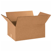 "Heavy Duty Double Wall Cardboard Corrugated Box 18"" x 12"" x 6"" 275 Lb. ECT-48 15 Pack"