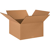 "Double Wall Corrugated Boxes 18"" x 18"" x 10"", 275 lb.Test/DW/ECT-48 Kraft - 15 Pack"