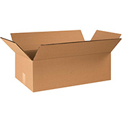 "Double Wall Corrugated Boxes 20"" x 14"" x 6"", 275 lb.Test/DW/ECT-48 Kraft - 15 Pack"