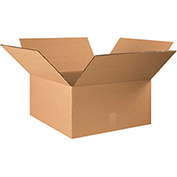 "Double Wall Corrugated Boxes 22"" x 22"" x 12"", 275 lb.Test/DW/ECT-48 Kraft - 10 Pack"