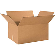 "Double Wall Corrugated Boxes 24"" x 14"" x 12"", 275 lb.Test/DW/ECT-48 Kraft - 15 Pack"