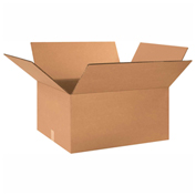 "Heavy Duty Double Wall Cardboard Corrugated Box 24"" x 16"" x 8"" 275 Lb. ECT-48 15 Pack"