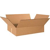 "Double Wall Corrugated Boxes 24"" x 18"" x 6"", 275 lb.Test/DW/ECT-48 Kraft - 15 Pack"