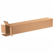 "Heavy Duty Double Wall Cardboard Corrugated Box 6"" x 6"" x 36"" 275 Lb. ECT-48 15 Pack"