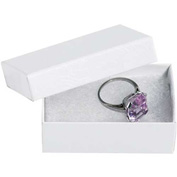 """White Jewelry Boxes 2-1/2"""" x 1-1/2"""" x-7/8"""" - 100 Pack"""