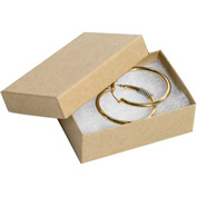 "Kraft Jewelry Boxes 3-1/16"" x 2 1/8"" x 1"" - 100 Pack"