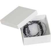 "White Jewelry Boxes 3-1/2"" x 3-1/2"" x 1-1/2"" - 100 Pack"