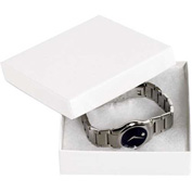 "White Jewelry Boxes 3-1/2"" x 3-1/2"" x 1"" - 100 Pack"